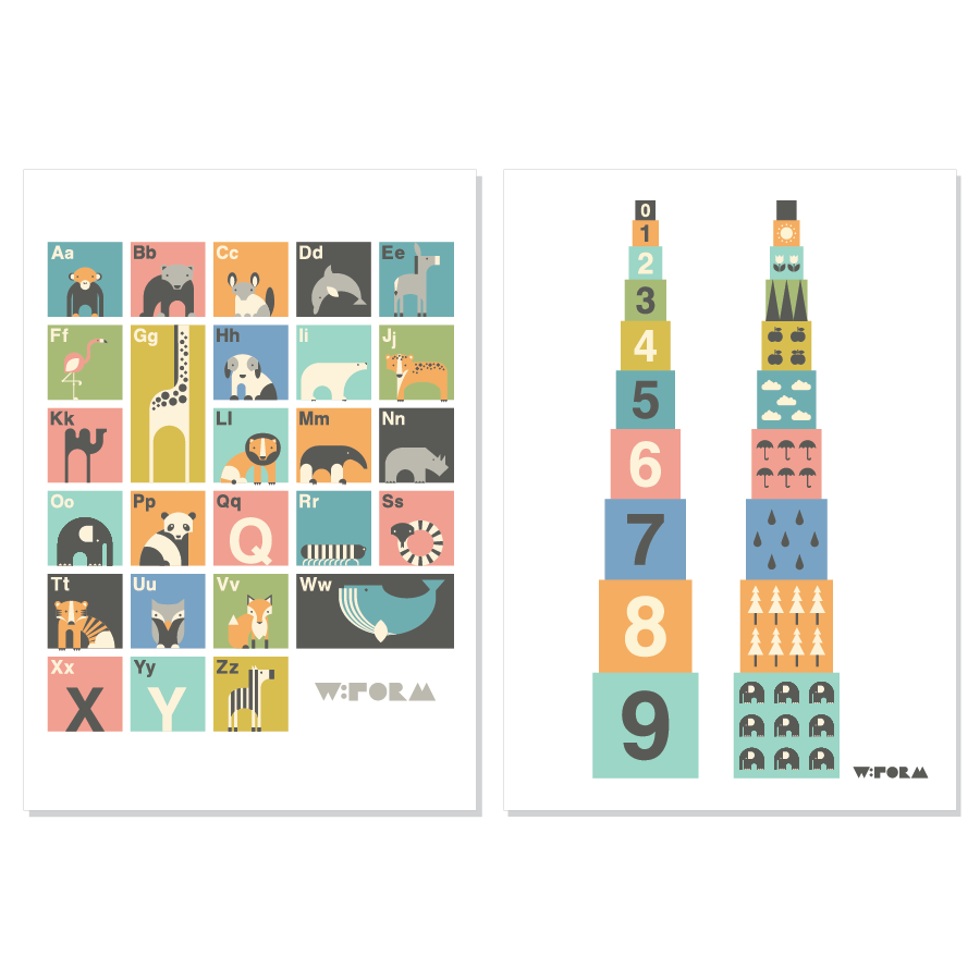 ABC Dutch + Numbers Multicolor A3